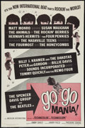 "Movie Posters:Rock and Roll, Go Go Mania (American International, 1965). One Sheet (27"" X 41""). Rock and Roll.. ..."