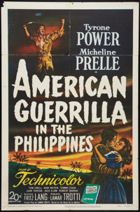 "American Guerrilla in the Philippines (20th Century Fox, 1950). One Sheet (27"" X 41""). War"