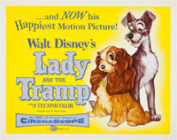 """Lady and the Tramp (Buena Vista, 1955). Half Sheet (22"""" X 28""""). Animation"""