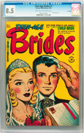 Golden Age (1938-1955):Romance, Teen-Age Brides #1 File Copy (Harvey, 1953) CGC VF+ 8.5 Light tanto off-white pages....