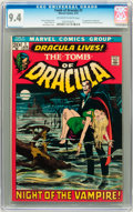 Bronze Age (1970-1979):Horror, Tomb of Dracula #1 (Marvel, 1972) CGC NM 9.4 Off-white to whitepages....
