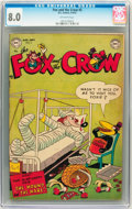Golden Age (1938-1955):Funny Animal, Fox and the Crow #5 (DC, 1952) CGC VF 8.0 Off-white pages....