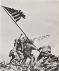 Autographs:Military Figures, Signed Photograph of Iwo Jima Flag Raising signed by navy corpsmanJohn H. Bradley, one of the flag raisers....