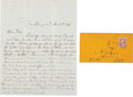 Autographs:U.S. Presidents, [Abraham Lincoln] Union Soldier's Letter With Content About the1864 Presidential Election. Letter by R.P. Crist of the 1st ...