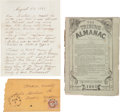 Autographs, [Abraham Lincoln] Letter Expressing Anti-Lincoln Sentiments. ...