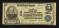 National Bank Notes:Pennsylvania, Spring Grove, PA - $5 1902 Plain Back Fr. 599 The Peoples NB Ch. #8141. ...