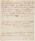 Autographs:Military Figures, Connecticut French and Indian War Pay Affidavit. ...