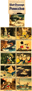 "Movie Posters:Animation, Pinocchio (RKO, 1940). Deluxe Color Photos (11) (8"" X 10"").. ...(Total: 11 Items)"