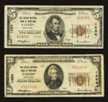 National Bank Notes:Maryland, Easton, MD - $5 1929 Ty. 2 and $20 1929 Ty. 1 The Easton NB ofMaryland Ch. # 1434. ... (Total: 2 notes)
