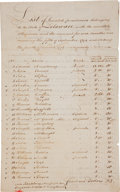 Autographs:Statesmen, Timothy Pickering Document Signed as Secretary of War ListingInvalid Soldiers Who Served in the Revolutionary War. Two page...