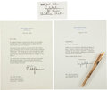 Autographs:U.S. Presidents, Lyndon Johnson Typed Letters (Four) Signed. ...