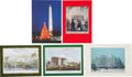 Autographs:U.S. Presidents, Five Nixon, Agnew, and Ford Presidential and Vice PresidentialChristmas Cards, 1971-1974....