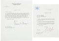 Autographs:Statesmen, Warren Burger and Dan Quayle Typed Letters Signed to PoliticalCartoonist Gib Crockett. ...