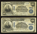 National Bank Notes:District of Columbia, Washington, DC - $10 1902 Plain Back Fr. 626 The District NB Ch. # 9545;. Washington, DC - $10 1902 Plain Back F... (Total: 2 notes)