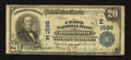 National Bank Notes:Maryland, Westminster, MD - $20 1902 Plain Back Fr. 650 The Union NB Ch. #(E)1596. ...