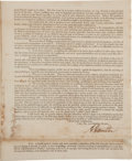 Autographs:Statesmen, Alexander Hamilton Printed Treasury Department Circular Signed ...