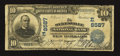 National Bank Notes:Maryland, Sykesville, MD - $10 1902 Plain Back Fr. 626 The Sykesville NB Ch.# (E)8587. ...