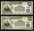 National Bank Notes:Missouri, Saint Louis, MO - $10 1902 Plain Back Fr. 627 The NB of CommerceCh. # 4178, Two Examples. . ... (Total: 2 notes)