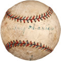 Autographs:Baseballs, Late 1920's Bucky Harris Signed Baseball....