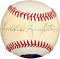 Autographs:Baseballs, 1970's Freddie Lindstrom Single Signed Portrait Baseball....