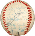 Autographs:Baseballs, 1951 Kansas City Blues Team Signed Baseball with Mickey Mantle....