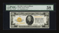 Small Size:Gold Certificates, Fr. 2402 $20 1928 Gold Certificate. PMG Choice About Unc 58.. ...