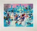 Memorabilia:Comic-Related, Carl Barks Mardi Gras Before the Thaw Regular Edition Lithograph #303/350 (Another Rainbow, 1992)....