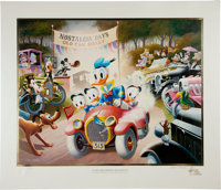 Carl Barks A 1934 Belchfire Runabout! Gold Plate Edition Lithograph #36/100 (Another Rainbow, 1984)