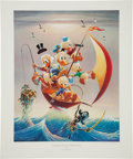 Memorabilia:Comic-Related, Carl Barks Sailing the Spanish Main Lithograph #93/245 (Another Rainbow, 1982)....