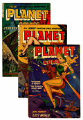 Golden Age (1938-1955):Science Fiction, Planet Comics #66, 72, and 73 Group (Fiction House, 1952-53)....(Total: 3 Comic Books)