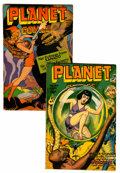 Golden Age (1938-1955):Science Fiction, Planet Comics #44 and 45 Group (Fiction House, 1946).... (Total: 2Comic Books)