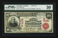 National Bank Notes:Virginia, Lexington, VA - $10 1902 Red Seal Fr. 613 The Peoples NB Ch. #(S)7173. ...