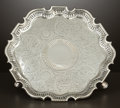 Silver Holloware, British:Holloware, A GEORGE II SILVER HEXAGONAL SALVER . Benjamin West, London,England, circa 1740-1741. Marks: (lion passant), (leopard's hea...