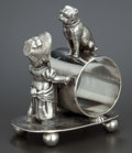 Silver Holloware, American:Napkin Rings, AN AMERICAN SILVER PLATED FIGURAL NAPKIN RING . William Rogers Mfg.Co., Hartford, Connecticut, circa 1875. Marks: WM. ROG...