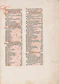 Books:Early Printing, Guillelmus Duranti. Rationale divinorum officiorum. [Paris:Ulrich [Gering], Martin [Crantz], and Michael [Fribu...