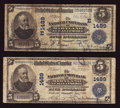 National Bank Notes:Maryland, Baltimore, MD - $5 1902 Date Back Fr. 590 and $5 1902 Plain BackFr. 598 The National Union Bank of Maryland Ch. # (E)14... (Total:2 notes)
