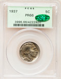 Proof Buffalo Nickels, 1937 5C PR66 PCGS. CAC....
