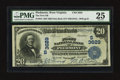 National Bank Notes:West Virginia, Piedmont, WV - $20 1902 Date Back Fr. 644 The First NB Ch. # (S)3629. ...