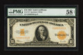 Large Size:Gold Certificates, Fr. 1173 $10 1922 Gold Certificate PMG Choice About Unc 58 Net.. ...