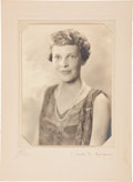 Autographs:Celebrities, Amelia Earhart Autographed Photograph....
