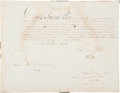 Autographs:Military Figures, Napoleon Bonaparte Document Signed ...