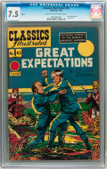 Golden Age (1938-1955):Classics Illustrated, Classics Illustrated #43 Great Expectations HRN 62 (Gilberton, 1949) CGC VF- 7.5 Light tan to off-white pages....