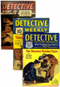 Pulps:Detective, Assorted Detective Pulps Group (Various, 1930-46) Condition: Average GD.... (Total: 8 Comic Books)