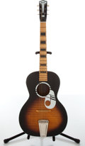 Musical Instruments:Acoustic Guitars, 1960s Kay Student Sunburst Acoustic Guitar....