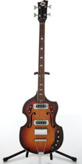 Musical Instruments:Bass Guitars, 1965 Teisco Del Ray EB-200W Sunburst Bass Guitar, #513893....