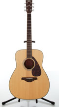 Musical Instruments:Acoustic Guitars, 2000s Yamaha FG730S Natural Solid Top Acoustic Guitar.#QLL217205....