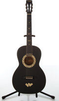 Musical Instruments:Acoustic Guitars, 1930's Regal Le Domino Black Acoustic Guitar, #N/A....