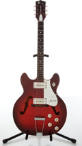 Musical Instruments:Electric Guitars, Harmony S-69W Rocket Red Burst Electric Guitar, #6977H54-1....