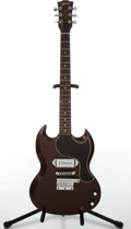 Musical Instruments:Electric Guitars, 1963 Gibson Les Paul Junior Chocolate Brown Electric Guitar....