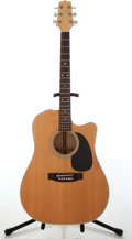 Musical Instruments:Acoustic Guitars, 1980s Takamine Natural Electric Acoustic Guitar, #89020283....